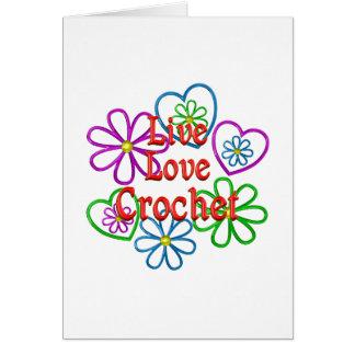 Cartão Crochet vivo do amor