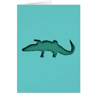 Cartão Crocodilo crocodile