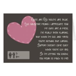 Cartão Crohn e namorados da colite - cuidadors