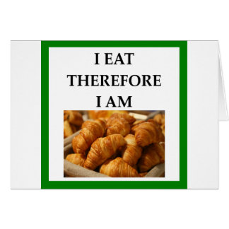 Cartão croissant