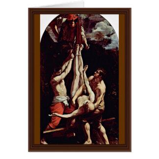 Cartão Crucificação de St Peter por Reni Guido