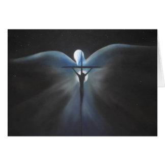 Cartão Crucificação do cristo com o Espírito Santo, poema