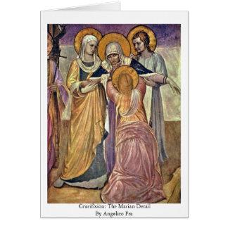 Cartão Crucificação: O detalhe mariano por Angelico Fra