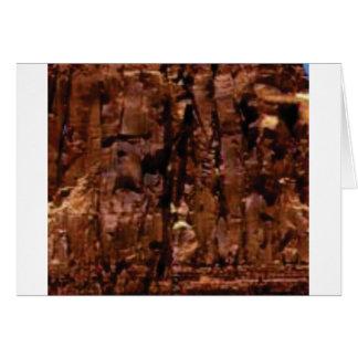 Cartão crumble marrom da rocha