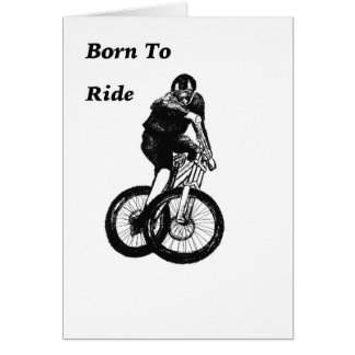Cartão Cruz ciclo do CICLISTA do motociclista MTB BMX da