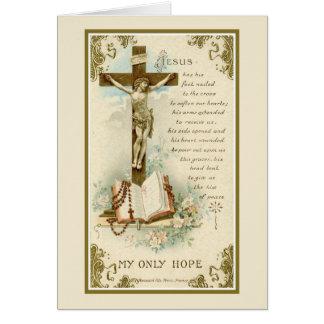 Cartão Cruz de oferecimento maciça da simpatia católica
