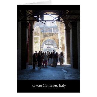Cartão Cruz no coliseu romano, Italia