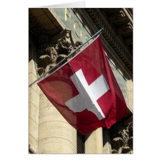 Cartão cruz suíça da bandeira