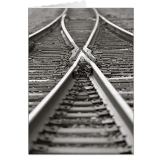 Cartão Cruzamento da trilha de estrada de ferro