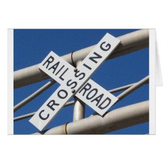 Cartão Cruzamento de estrada de ferro