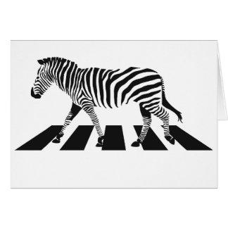 Cartão Cruzamento de zebra