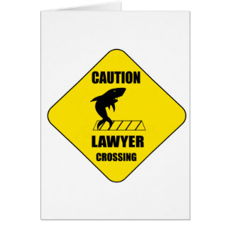 Cartão Cruzamento do advogado com tubarão