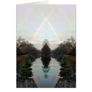 Cartão Cruzamento do arco-íris