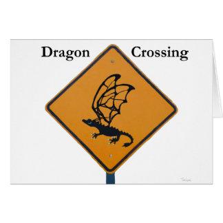 Cartão Cruzamento do dragão