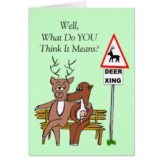 Cartão Cruzamento dos cervos/beijo (Reino Unido)