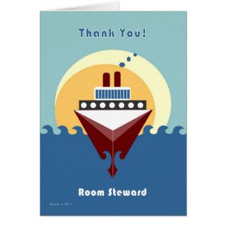 Cartão Cruzeiro - comissário de bordo da sala - obrigado