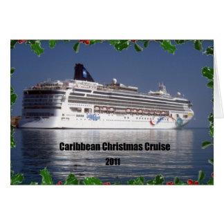 Cartão Cruzeiro das caraíbas 2011 do Natal