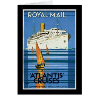 Cartão Cruzeiros de Royal Mail Atlantis