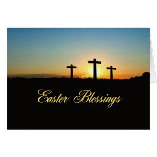 Cartão Cruzes das bênçãos da páscoa