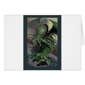 Cartão Cthulhu cavalo-força de aumentação Lovecraft