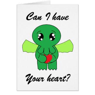 Cartão Cthulhu quer seu coração