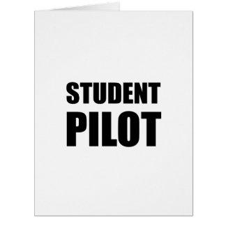 Cartão Cuidado do piloto de estudante