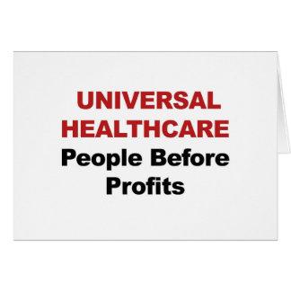 Cartão Cuidados médicos universais