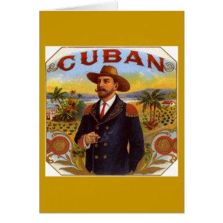 Cartão cultural cubano
