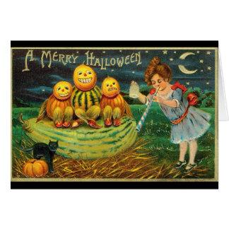 Cartão Cumprimento 1910 do Dia das Bruxas do vintage