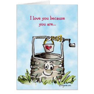 Cartão Cumprimento bom do dia dos namorados dos desenhos