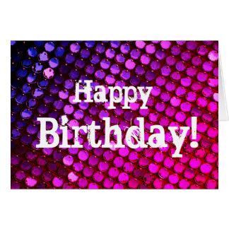 Cartão Cumprimento brilhante do feliz aniversario