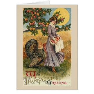 Cartão Cumprimento da acção de graças,