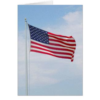 Cartão Cumprimento da bandeira americana ou Notecard #1