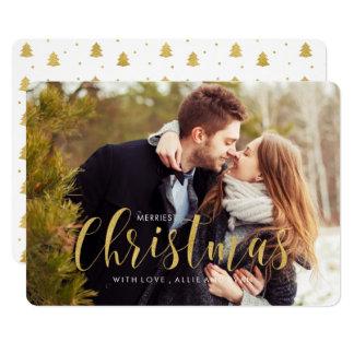 Cartão Cumprimento da foto dos pinhos do feriado do ouro