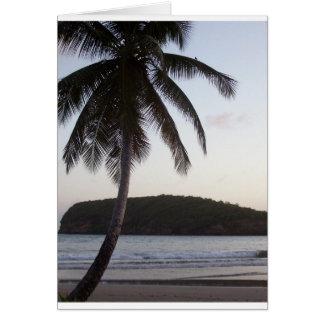 Cartão Cumprimento da palmeira