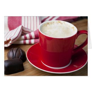 Cartão Cumprimento da ruptura de café