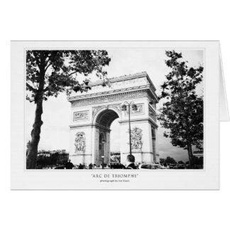 Cartão Cumprimento de Arco do Triunfo
