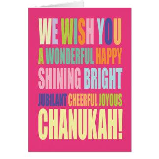 Cartão Cumprimento de Chanukah/Hannukah