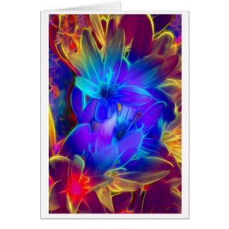 Cartão Cumprimento de flor