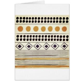 Cartão Cumprimento de papel do vintage com teste padrão
