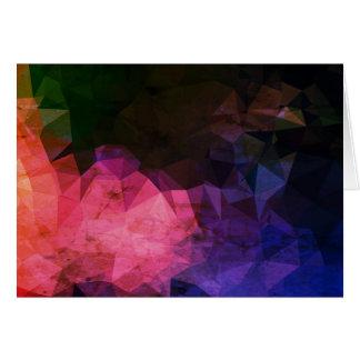 Cartão Cumprimento de papel dos desenhistas: caverna roxa