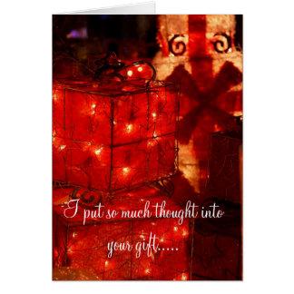 Cartão Cumprimento divertido do Natal