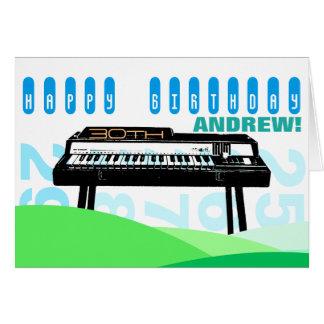 Cartão Cumprimento do aniversário de 30 anos do órgão da