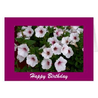 Cartão Cumprimento do aniversário do petúnia