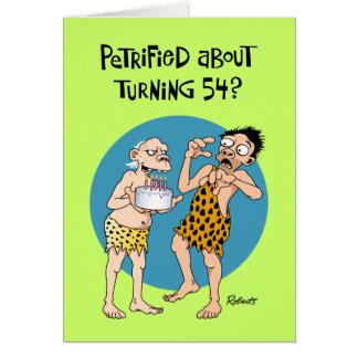 Cartão Cumprimento do aniversário dos homens 54th
