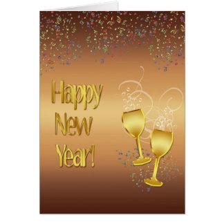 Cartão Cumprimento do ano novo