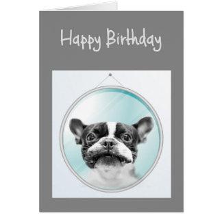 Cartão Cumprimento do cão do buldogue francês do