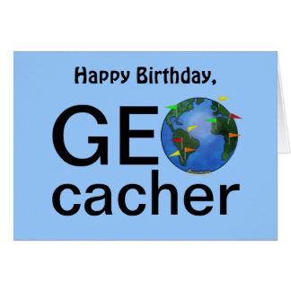 Cartão Cumprimento do feliz aniversario de Geocaching da