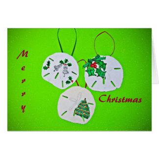 Cartão Cumprimento do Natal do dólar de areia