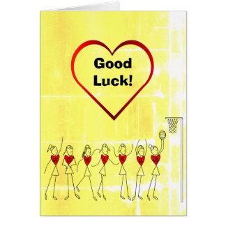 Cartão Cumprimento do Netball da boa sorte